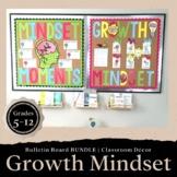 Growth Mindset Bulletin Board BUNDLE Social Emotional Learning