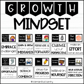 Growth Mindset Bulletin Board Book Display