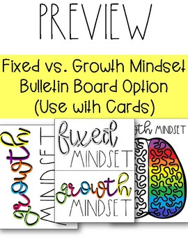 Growth Mindset Bulletin Board & Brag Tags