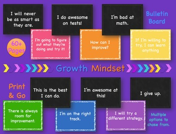 Growth Mindset Bulletin Board Display Set, Printable