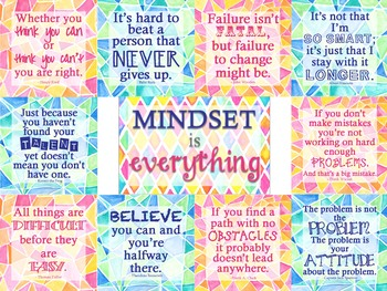 Growth Mindset Bulletin Board - Mindset is Everything