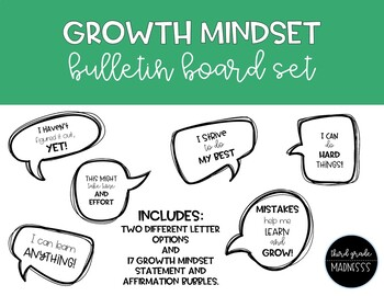 Growth Mindset Bulletin Board Pack