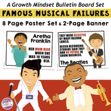 Growth Mindset Bulletin Board Posters - Famous Musical Failures
