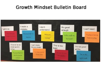 Growth Mindset Bulletin Board Prep