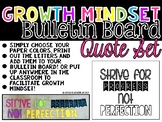 Growth Mindset Bulletin Board Quote Set