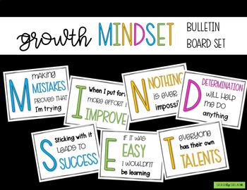 Growth Mindset Posters, Bulletin Board Set