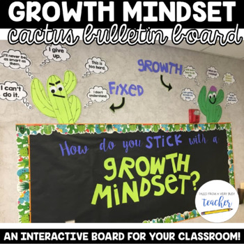Growth Mindset Bulletin Board Set - Cactus Edition!