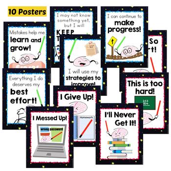 Growth Mindset Bulletin Board Space Theme Brains