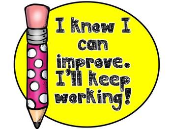 Growth Mindset Bulletin Board -Stay Sharp (Pencils)
