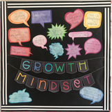 Growth Mindset Posters and Bulletin Board | Watercolor Spe