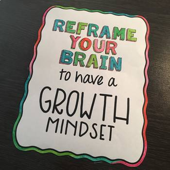 Growth Mindset Bulletin Board and Craft