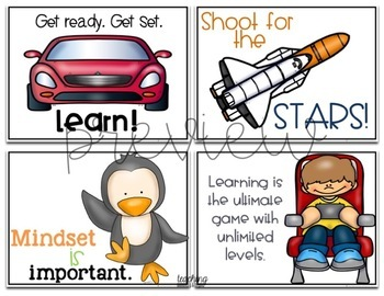 Primary Growth Mindset Posters Bundle & Bonus