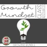 Growth Mindset Bundle Coloring Banner, Affrimation Bookmar