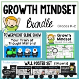 Growth Mindset Bundle-PowerPoint Slide Show,  Poster, Lessons & Activities (K-2)