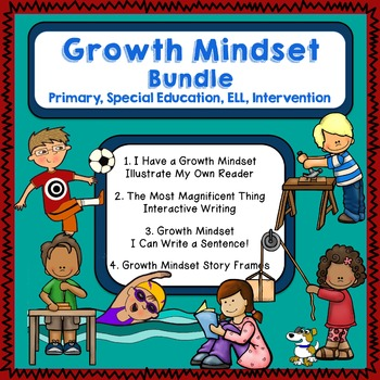 Growth Mindset Bundle for Special Education, Primary, and