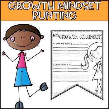 Growth Mindset Bunting - Goal Setting Freebie