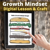Digital Growth Mindset Burger with Presentation and Paper Craft