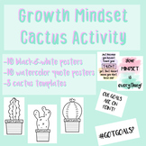 Growth Mindset Cactus Activity - Templates & Posters