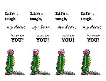 Growth Mindset Cactus Bookmarks