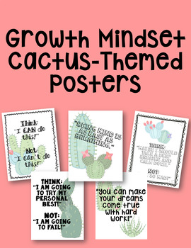 Growth Mindset Cactus Posters