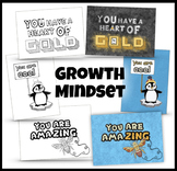Growth Mindset Cards to Color / Affirming Clip Art