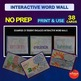 Science Bell Ringer Cell Structure Interactive Word Wall Activity NO PREP