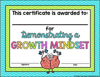 Growth Mindset Certificates FREE