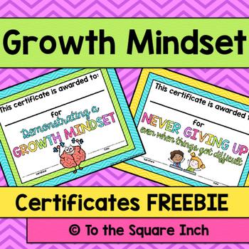 Growth Mindset Certificates FREE