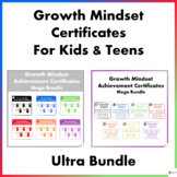 Growth Mindset Certificates For Kids and Teens Ultra Bundle