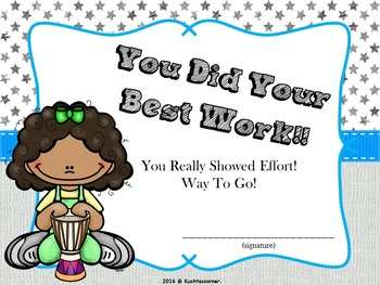 Growth Mindset Certificates for the Music Classroom - PDF Edition