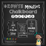 Growth Mindset Chalkboard Posters Bulletin Board