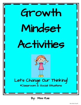 Growth Mindset Activities for Classroom and Social Situations