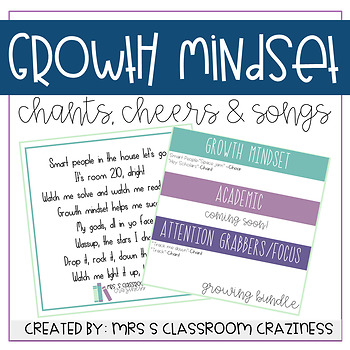 Growth Mindset Chants,Cheers, & Songs