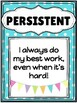 Growth Mindset Character Trait Posters