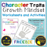 Growth Mindset Character Traits Worksheets and Games
