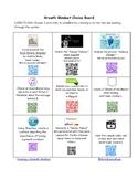 Growth Mindset Choice Board Utilizing QR Codes