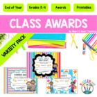 Growth Mindset Class Awards Variety Pack of 30 {EDITABLE}