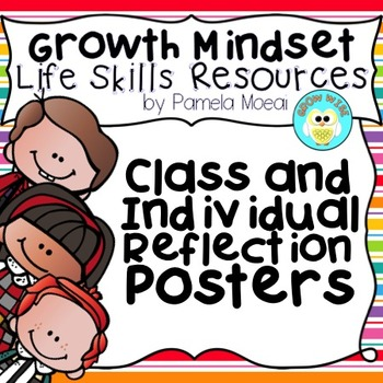 Growth Mindset!  Class and Individual Reflection Posters!
