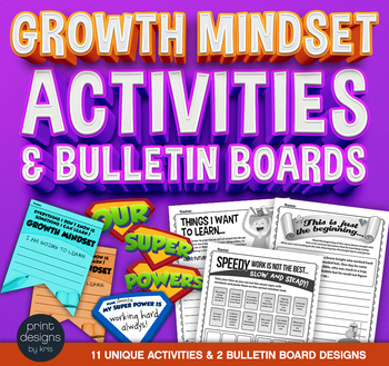 Growth Mindset Classroom Activities and Bulletin Boards