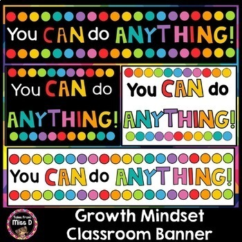 Growth Mindset Posters and Banners FREEBIE