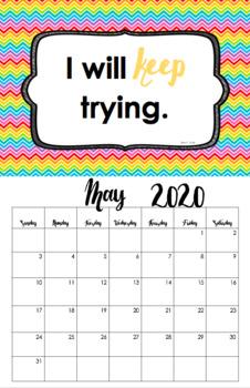 Growth Mindset: 11 x 17 Classroom Calendar