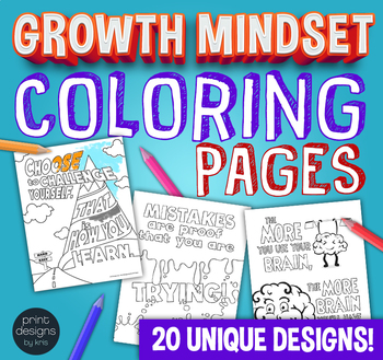Growth Mindset Classroom Coloring Pages