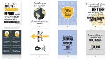 Growth Mindset & Classroom Culture Quote Posters