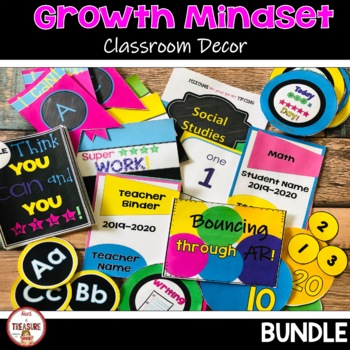 Growth Mindset Classroom Decor Bundle