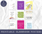 Growth Mindset Classroom Decor, Classroom Wall Art, Classroom Posters