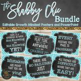 Growth Mindset Classroom Decor - Editable - Shabby Chic Chalkboard