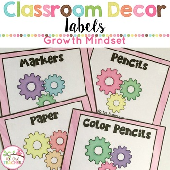 Growth Mindset Classroom Editable Labels