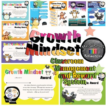 Growth Mindset Classroom Management and Reward System