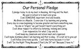 Growth Mindset Classroom Pledge - Morning Meeting