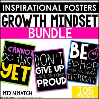 Growth Mindset Classroom Posters Bundle Mix N Match